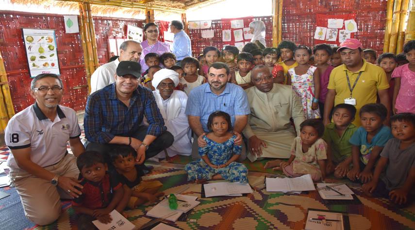 La délégation de l'UPCI visite les camps de réfugiés Rohingyas