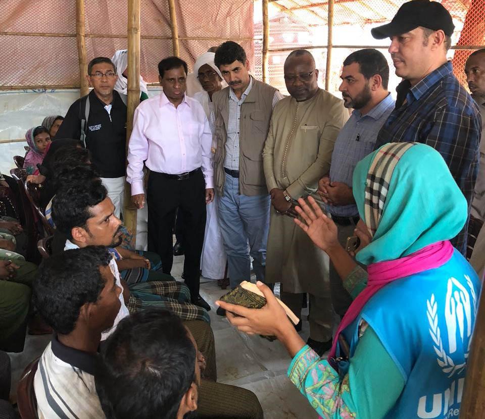 Rapport sur la Visite de Vice-Président du Parlement Marocaine, aux Camps de réfugiés Rohingyas