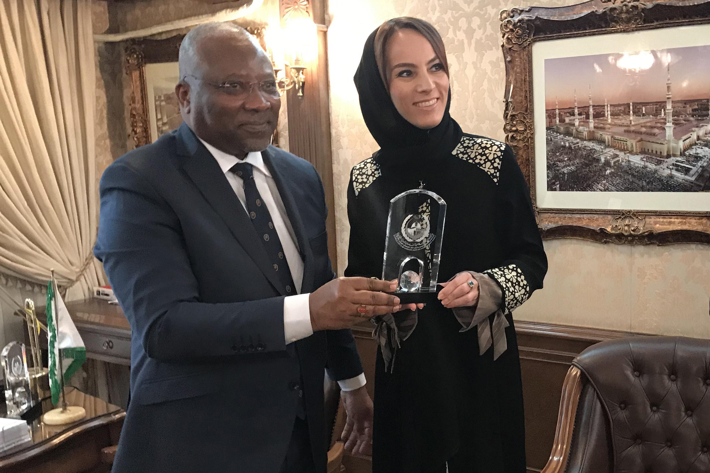 La Présidente de l'UIP en visite au siège de l