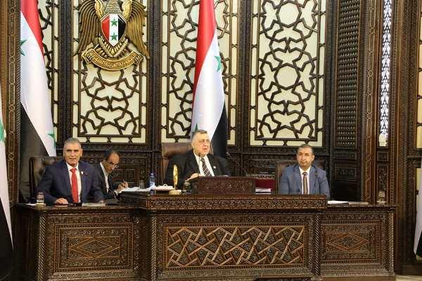 الأمين العام يهنئ رئيس مجلس الشعب السورى