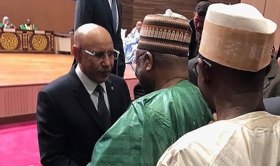 الامين العام للاتحاد يحضر حفل تنصيب رئيس الجمهورية الاسلامية الموريتانية المنتخب