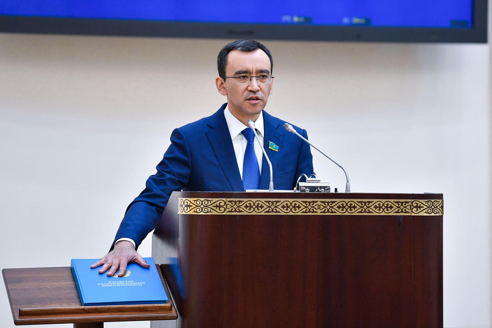 Le Secrétaire Général Félicite le Président du Sénat du Kazakhstan