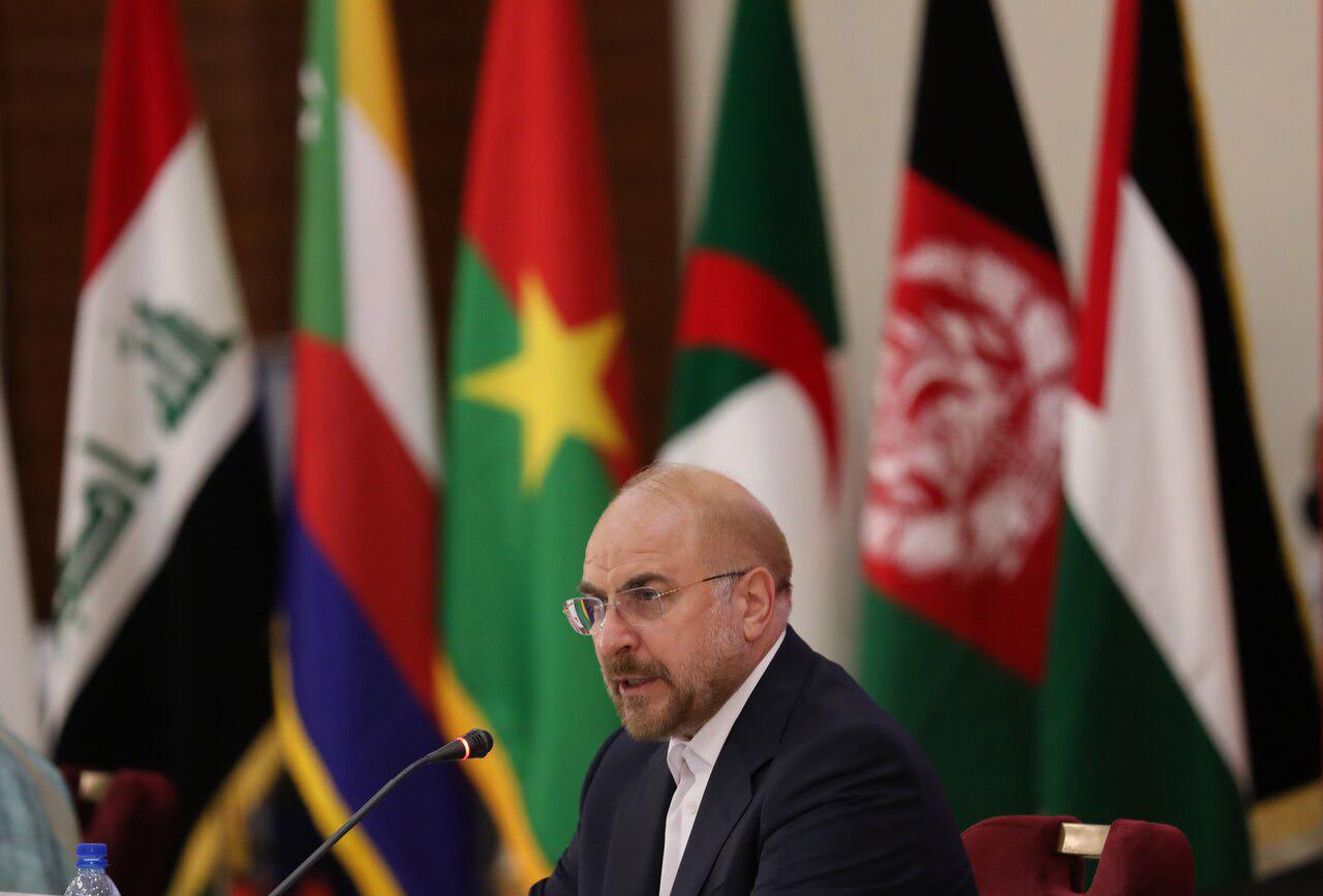 الأمين العام يهنئ رئيس البرلمان الايراني