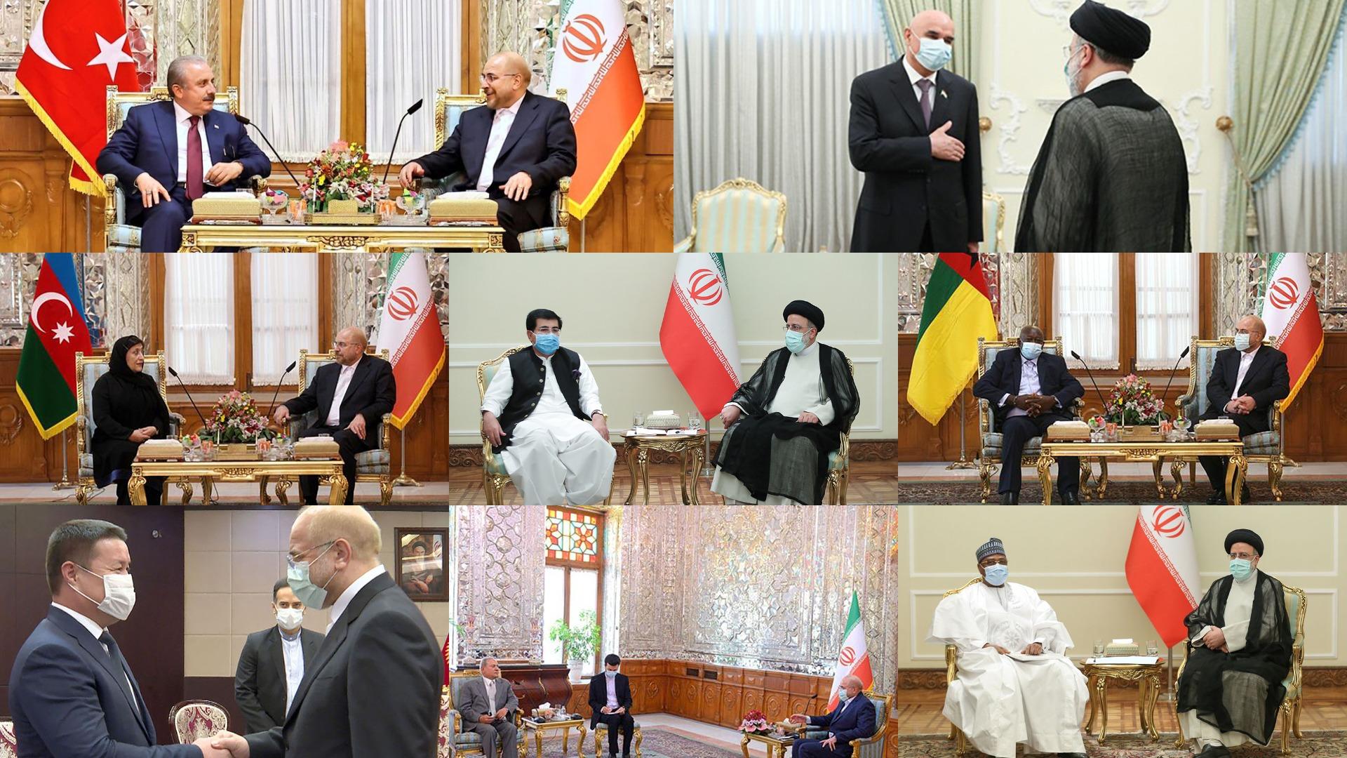 البرلمانات الأعضاء تحضر حفل تنصيب الرئيس الايراني